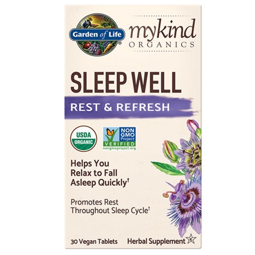 Garden of Life Herbals mykind Organics Sleep Well 30 tabs by Garden of Life
