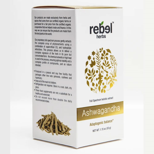 Rebel Herbs Ashwagandha Extract Powder 33gm by Rebel Herbs